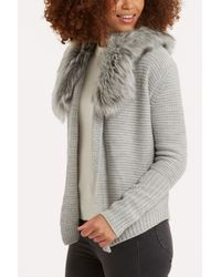Oasis | Gray 2 Tone Cosy Cardigan | Lyst