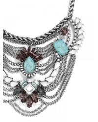BaubleBar - Metallic Turquoise Chieftess Bib - Lyst