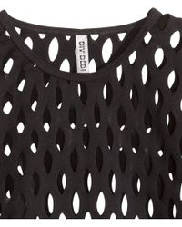H&M Black Top With A Hole Pattern