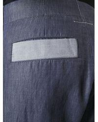 MM6 by Maison Martin Margiela - Blue High Waist Panelled Trousers - Lyst