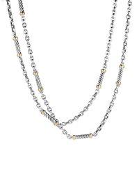 David Yurman - Metallic Metro Link Necklace With Gold - Lyst