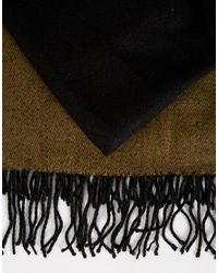 ASOS - Blanket Scarf In Black And Khaki for Men - Lyst