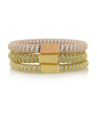 Carolina Bucci | Metallic Twister Set Of Three Gold-Plated Bracelets | Lyst