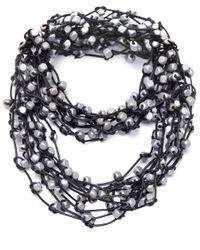 Jianhui Metallic Wooden Bead Necklace