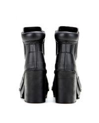 hunter original block heel rubber chelsea boots in black