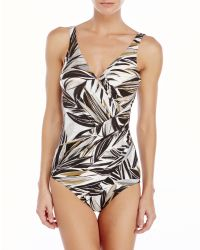 Miraclesuit - White High Impact One-Piece Swimsuit - Lyst