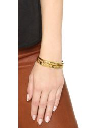Gorjana | Metallic #wrappedup Treat Irri Cuff Bracelet - Gold | Lyst