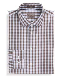 Calibrate - Blue Trim Fit Non-iron Check Dress Shirt for Men - Lyst