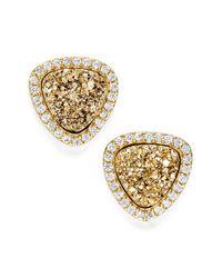 Marcia Moran | Metallic Triangle Drusy Stud Earrings | Lyst