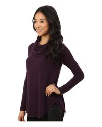 Karen Kane - Purple Funnel Neck Sweater - Lyst