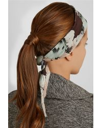 Live The Process - Black Floral-Print Stretch-Jersey Headband - Lyst