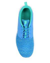Nike Blue Roshe Run Flyknit Prm Sneakers