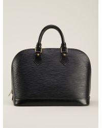 Louis Vuitton Black 'alma' Tote Bag