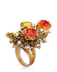 Bijoux Heart Multicolor Burst Ring