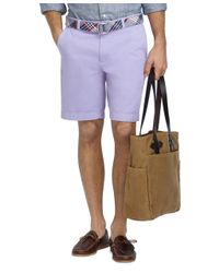 "Brooks Brothers | Purple Garment-dyed 11"" Bermuda Shorts for Men 