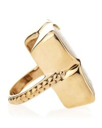 Stephen Dweck Metallic Motherofpearl Clover Ring