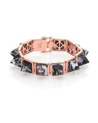 Eddie Borgo | Pink Zebra Jasper Pyramid Bracelet | Lyst