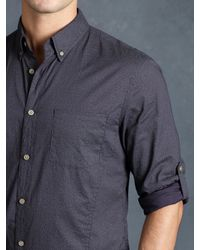 John Varvatos - Purple Cotton Abstract Rolled Sleeve Shirt for Men - Lyst