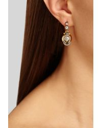 Fred Leighton - Black Silvertopped 18karat Gold Diamond Earrings - Lyst