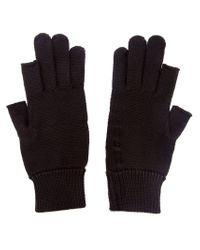 Rick Owens - Black Fingerless Knit Gloves for Men - Lyst