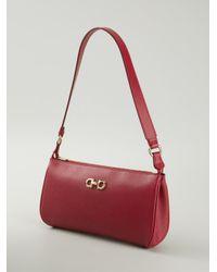 Ferragamo Red 'Lisetta' Shoulder Bag