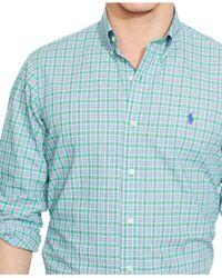 Polo Ralph Lauren - Green Plaid Poplin Shirt for Men - Lyst