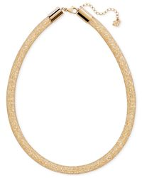 Swarovski - Metallic Gold-tone Golden Crystal Stardust Deluxe Necklace - Lyst