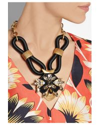 J.Crew - Metallic Corded Gold-Tone Crystal Necklace - Lyst