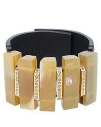 Marni - Black Natural Horn Rectangular Cuff Bracelet - Lyst