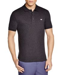 Lacoste - Black Stretch Slim Fit Polo for Men - Lyst