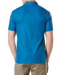 Perry Ellis | Blue Oxford Gusseted Sportshirt for Men | Lyst
