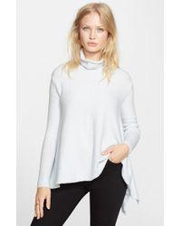 Free People White Handkerchief Hem Sweater