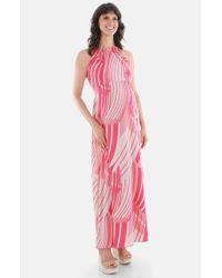 Everly Grey | Red 'harmony' Maternity Maxi Dress | Lyst