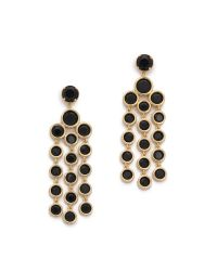 kate spade new york | Metallic Subtle Sparkle Chandelier Earrings - Jet | Lyst