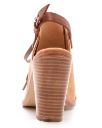 Rag & Bone Natural Trafford Heel Sandals Camel