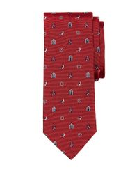 Brooks Brothers - Red Nautical Motif Tie for Men - Lyst
