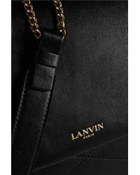 Lanvin - Black Sugar Medium Quilted Leather Shoulder Bag - Lyst