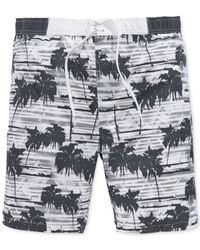 American Rag | Gray Palm Swim Shorts for Men | Lyst