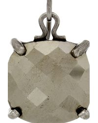Bottega Veneta Gray Oxidized Sterling Silver Pyrite Earrings