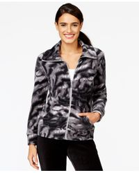Style & Co. | Black Style&co. Petite Wing-collar Printed Jacket, Only At Macy's | Lyst