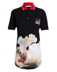 Givenchy - Black Unisex Orchid Print Polo Shirt - Lyst