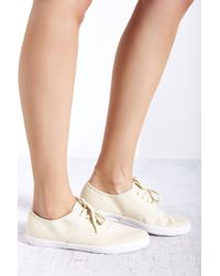 Urban Outfitters Natural Canvas Lace-up Sneaker