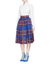 Stella Jean White 'mesa' Poplin Tuxedo Shirt