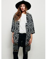 Free People - Black Eis Womens Fine Print Oversized Jacket - Lyst