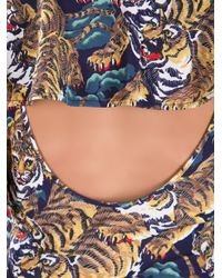 KENZO Multicolor Tiger Print Dress