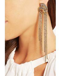 Erickson Beamon Metallic Heart Of Gold Gold-plated Swarovski Crystal Earrings