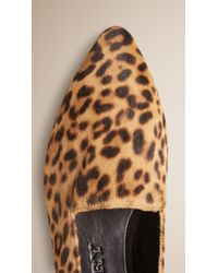 Burberry - Multicolor Animal-Print Calf Skin Loafers - Lyst