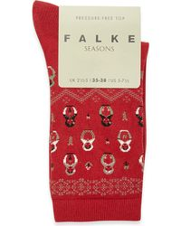 Falke | Red Matryoshka Socks | Lyst
