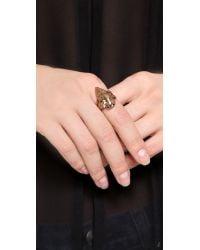 Pamela Love Pink Mini Arrowhead Ring