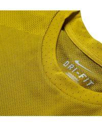 Nike Yellow Gyakusou Drifit Running Tshirt for men